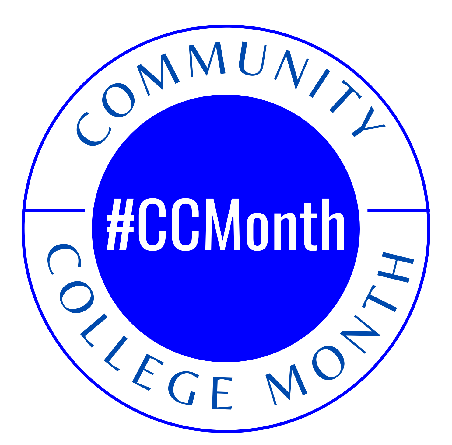 Community College Month logo